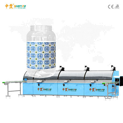 UV Drying 1-3 colors Automatic Screen Printing Machine For Gallon Bottle