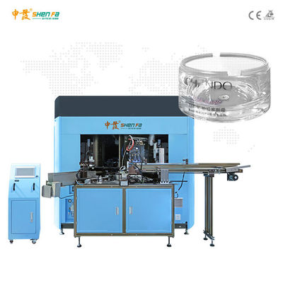 SF-SHR460 Four Color Screen Printing Machine For Cosmetic Jars
