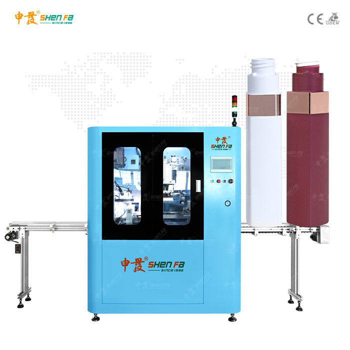 Servo Automatic Hot Stamping Machine For Lipstick Conical Oval Square Shape