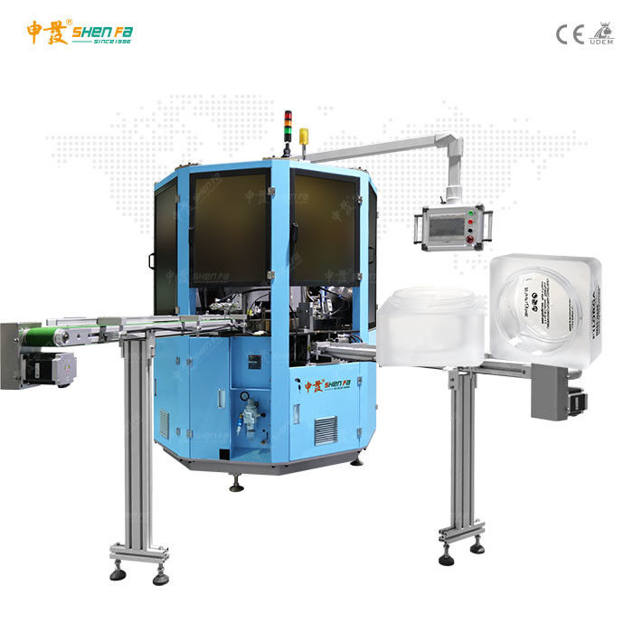 Chinese factory automatic screen printing machine with one silk printing and one pad printing