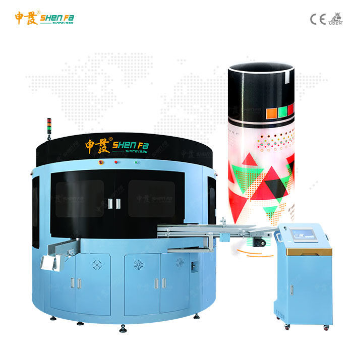 Centrifugal Tube 4 Color Automatic Screen Printing Machine With Varnishing