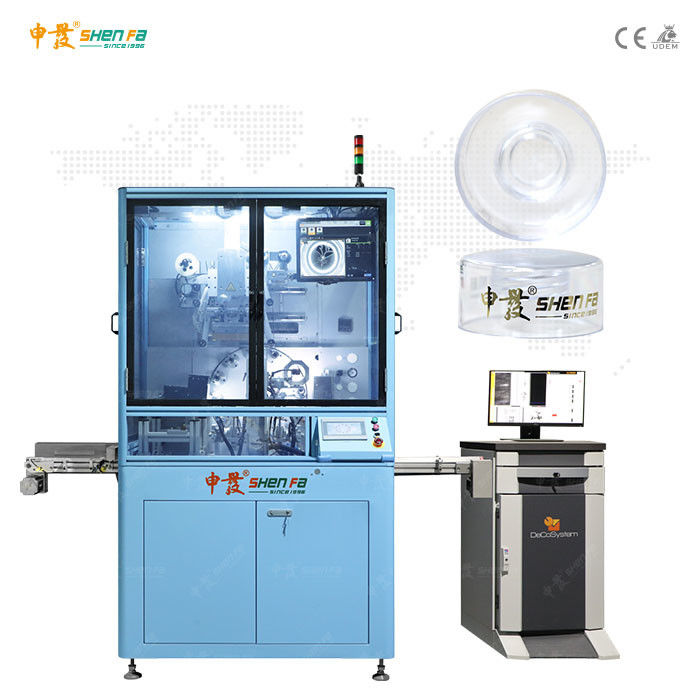 High Precision Auto Hot Stamping Machine For Plastic Jars Lid