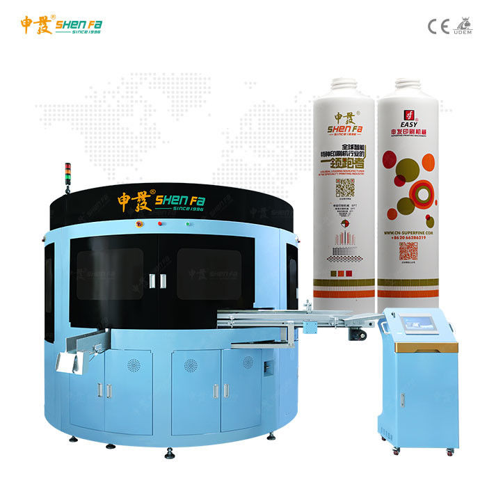 Varish Plus Four Color Screen Printing Machine For D50mm Soft Tube